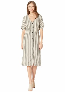 RVCA Smith Woven Midi Dress