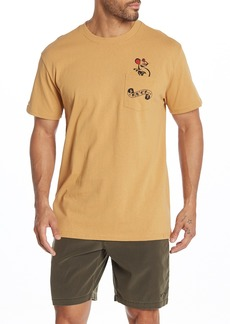 RVCA Tat Cat Crew Neck Pocket T-Shirt