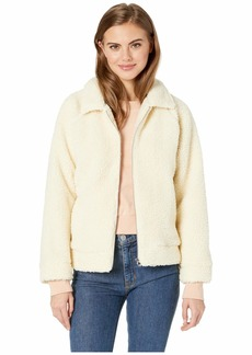 RVCA Ted Sherpa Zip Through Jacket