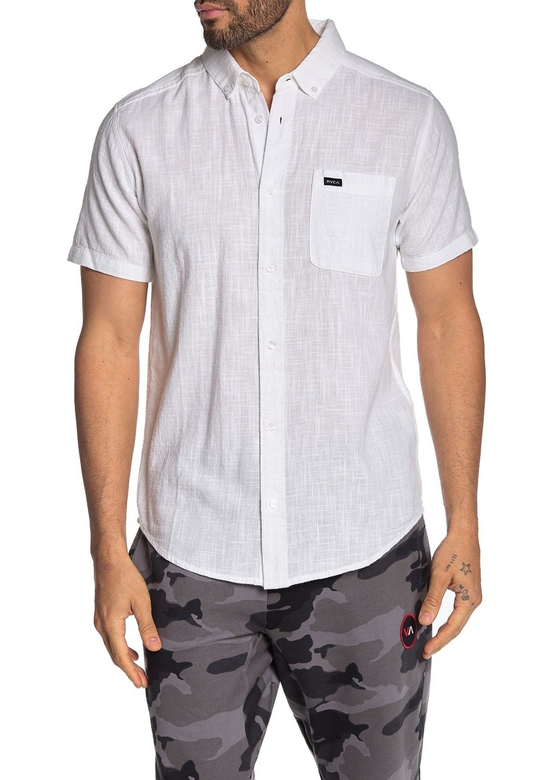 RVCA That'll Do Dobby Short Sleeve Slim Fit Shirt