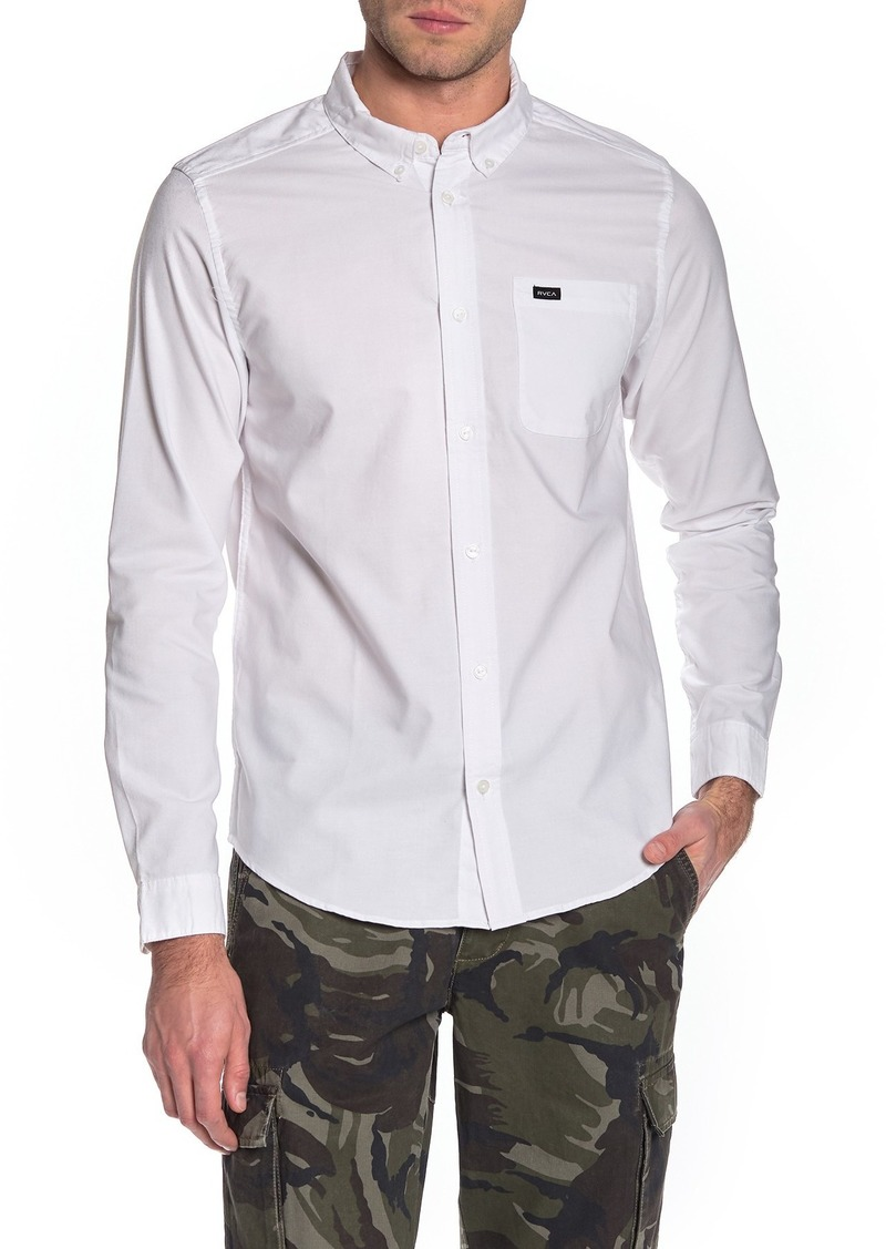 RVCA 'That'll Do' Slim Fit Oxford Shirt