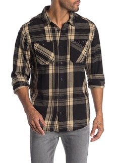 RVCA Wanted Plaid Flannel Regular Fit Shirt