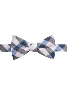 Ryan Seacrest Distinction Men's Cyprie Check Pre-Tied Bow Tie, Created for Macy's