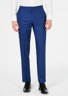 Ryan Seacrest Distinction Men's Slim-Fit Stretch Cobalt Blue Tuxedo Suit Pants, Created for Macy's