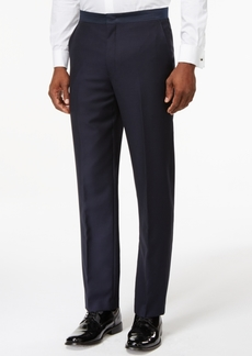Ryan Seacrest Distinction Navy Modern-Fit Tuxedo Pants