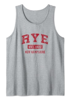 Rye New Hampshire NH Vintage Sports Design Red Design Tank Top