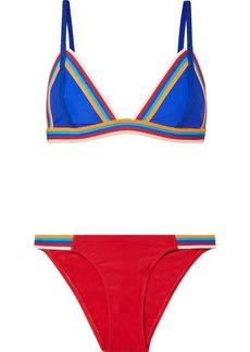 RYE Slick Striped Triangle Bikini