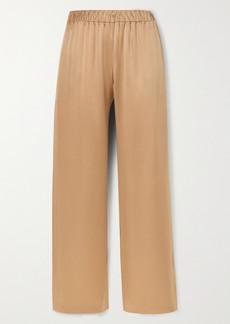 Sablyn Denver Silk-satin Wide-leg Pants