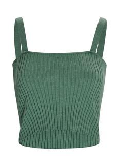 Sablyn Katalina Rib Knit Cashmere Tank Top