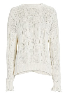 Sablyn Mitzy Distressed Cable Knit Sweater