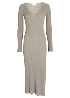 Sablyn Shelly Cashmere Rib Knit Midi Dress