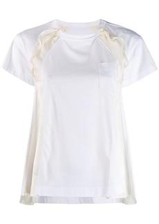 Sacai A-line panelled T-shirt