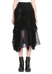 Sacai Asymetrical Midi Skirt
