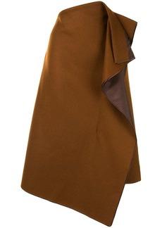 Sacai asymmetric draped skirt