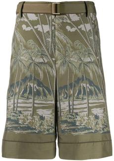 Sacai beach print shorts