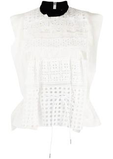 Sacai broderie-anglaise blouse