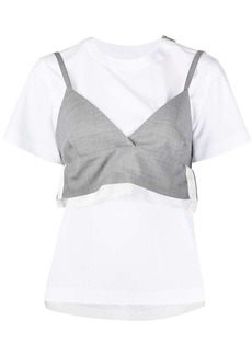 Sacai bustier layered T-shirt