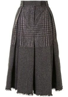 Sacai check-print skirt