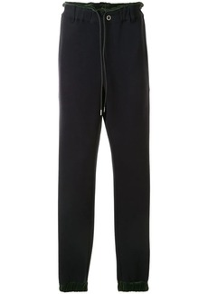 Sacai contrast piping track pants