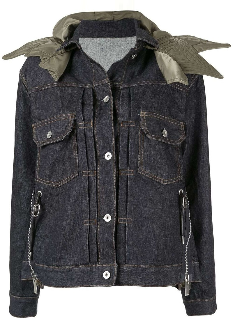 Sacai convertible collar denim jacket