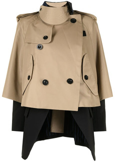 Sacai cropped trench jacket