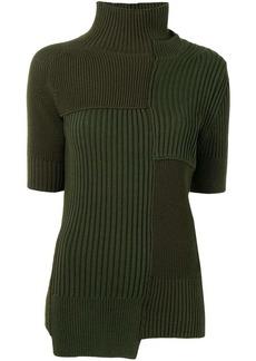 Sacai cut-out detail roll neck jumper