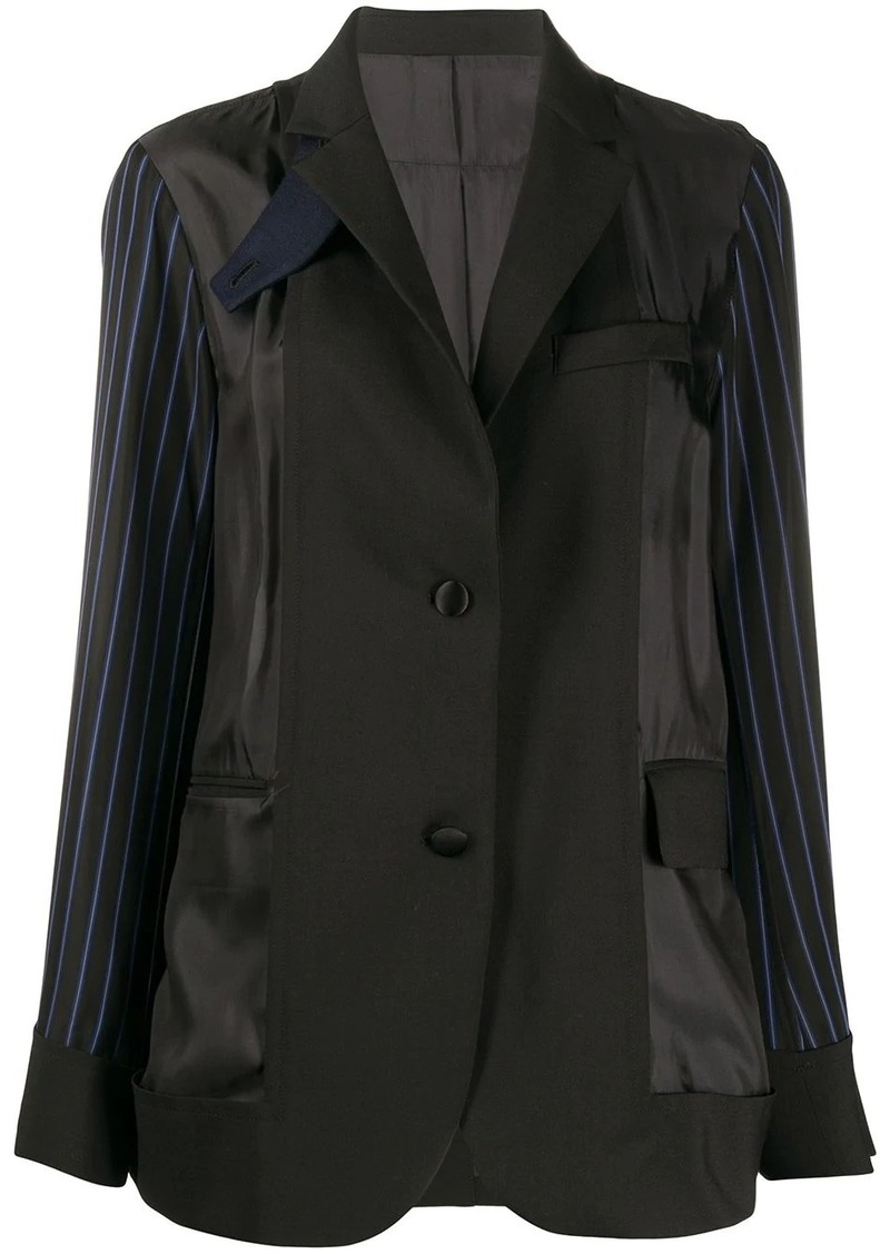 Sacai deconstructed single breasted blazer