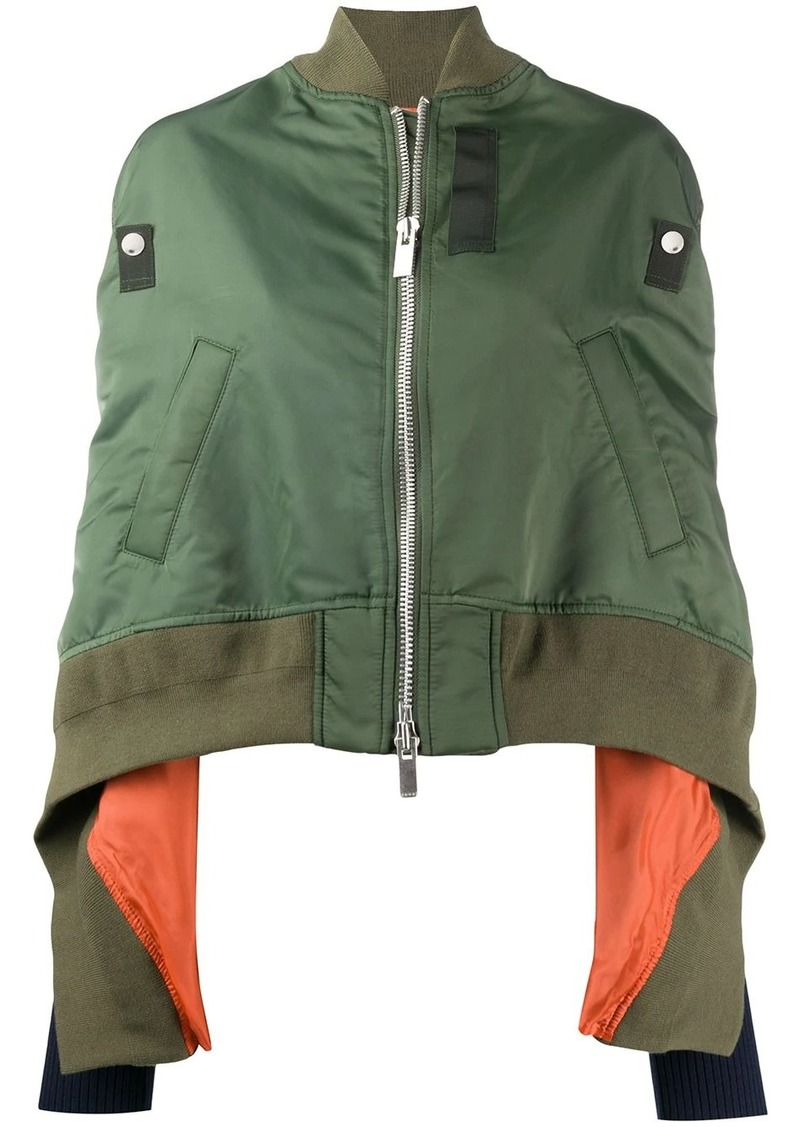 Sacai draped bomber jacket