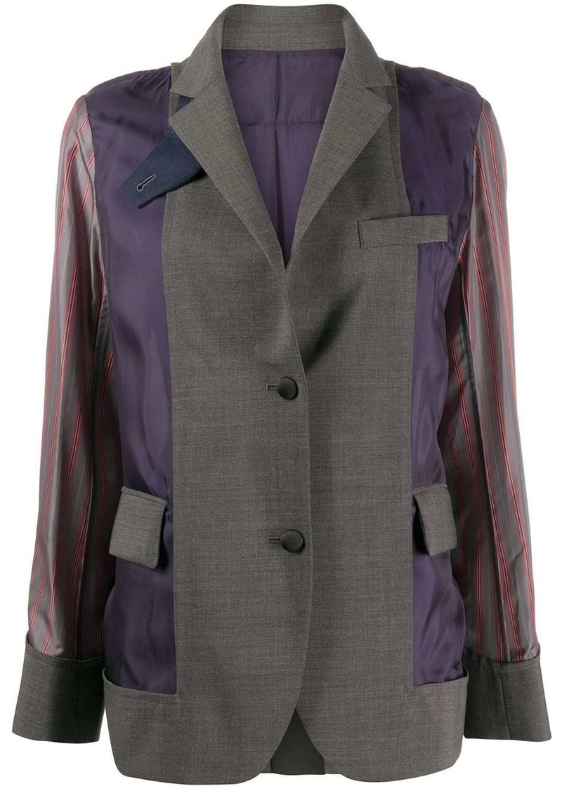 Sacai fabric mix blazer