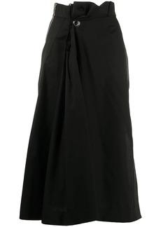 Sacai gathered wrap skirt