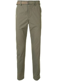 Sacai high-waisted slim fit chino trousers