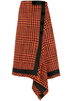 Sacai houndstooth wrap skirt