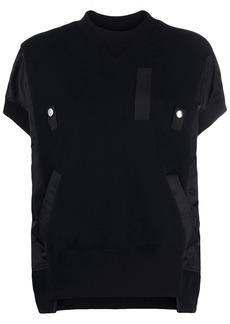 Sacai hybrid bomber sweatshirt