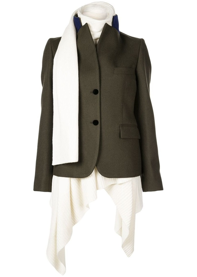 Sacai knit underlay coat