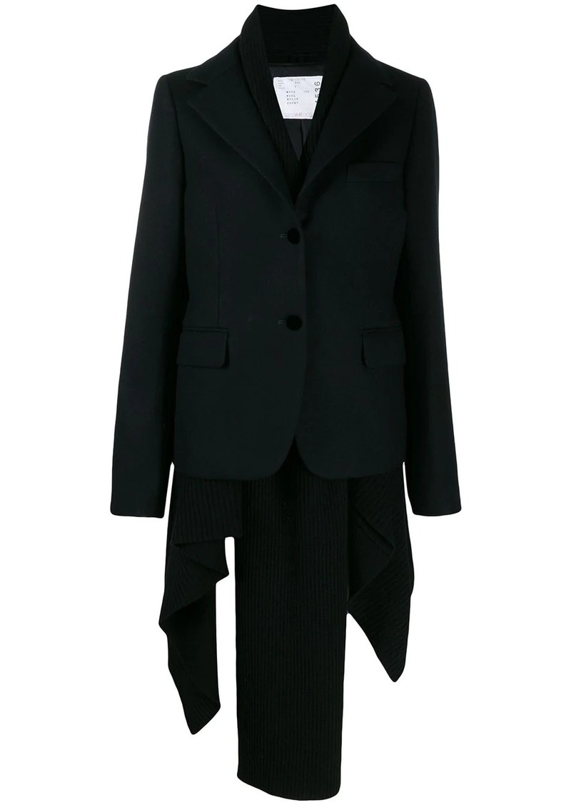 Sacai layered blazer jacket