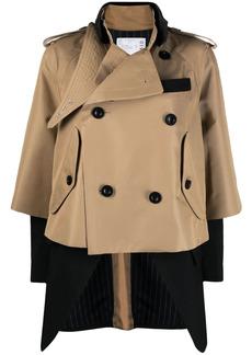 Sacai layered double-breasted jacket