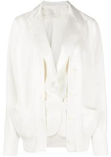 Sacai layered-look hybrid jacket