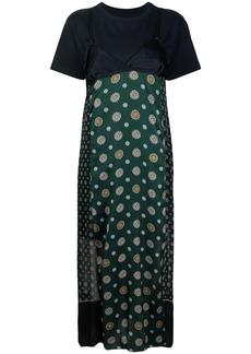 Sacai layered-look shift dress