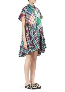 Sacai Mixed Plaid Shirt Dress
