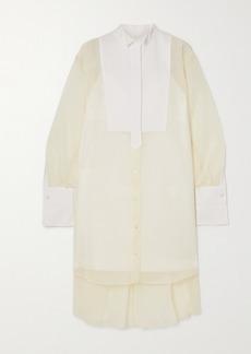 Sacai Organza And Cotton-poplin Shirt