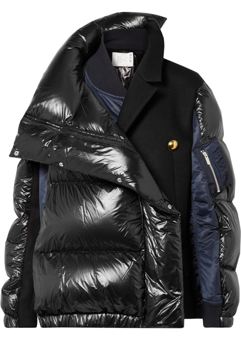 45c700ab6 Oversized Wool-paneled Quilted Shell Down Coat
