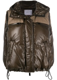 Sacai padded hooded gilet