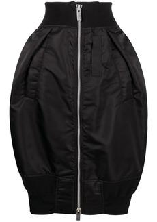 Sacai padded zipped high-waisted skirt