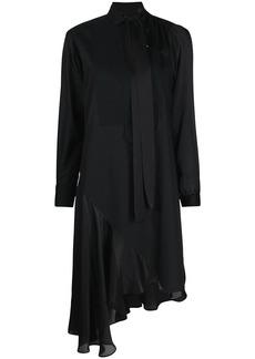 Sacai panelled asymmetric shirtdress