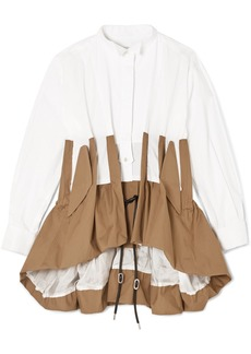 Sacai Panelled Two-tone Poplin Shirt