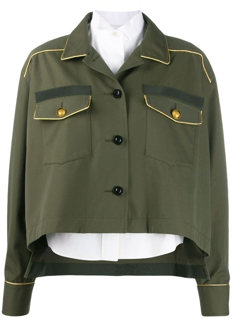 Sacai piped seam shirt jacket