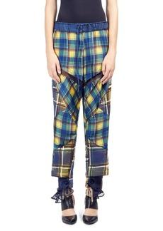 Sacai Plaid Mix Pants