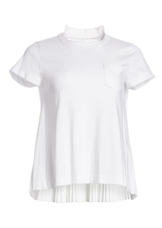 Sacai Pleat Back Cotton Tee