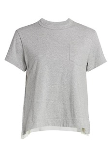 Sacai Pleated Cotton T-Shirt