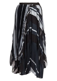 Sacai Pleated Midi Skirt